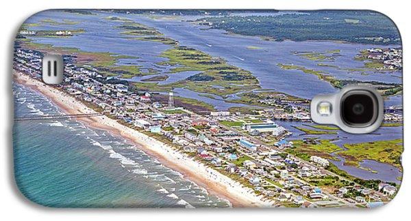 Vivid Surf City Topsail Island Galaxy S4 Case by Betsy Knapp