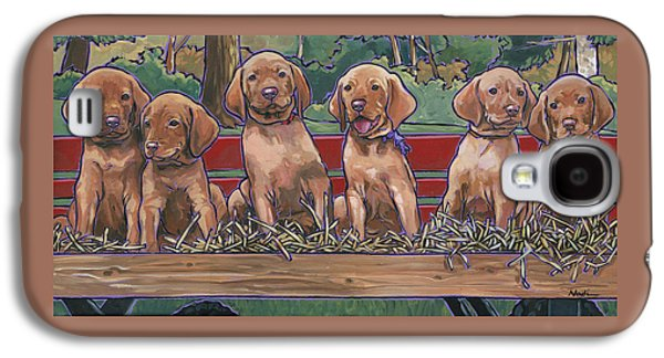 Vizsla Pups Galaxy S4 Case