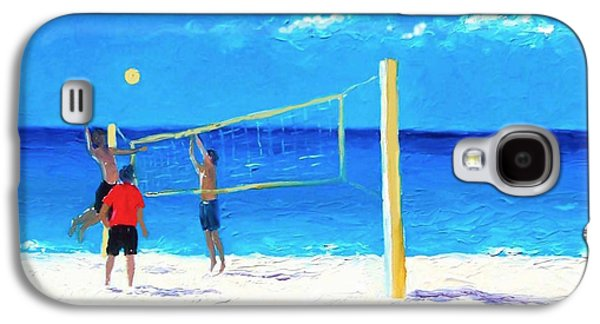 Volleyball Beach Painting Galaxy S4 Case by Jan Matson
