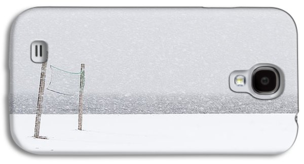 Volleyball Snow Net Minimalist Galaxy S4 Case by Terry DeLuco
