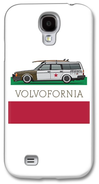 Volvofornia Slammed Volvo 245 240 Wagon California Style Galaxy S4 Case by Monkey Crisis On Mars