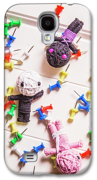 Voodoo Dolls Surrounded By Colorful Thumbtacks Galaxy S4 Case by Jorgo Photography - Wall Art Gallery
