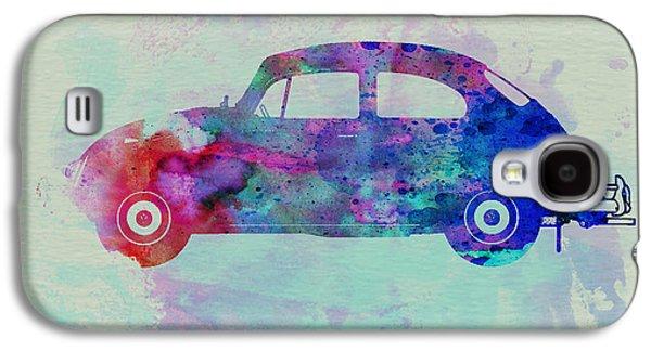 Vw Beetle Watercolor 1 Galaxy S4 Case by Naxart Studio