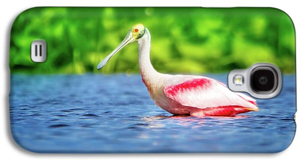 Wading Spoonbill Galaxy S4 Case by Mark Andrew Thomas