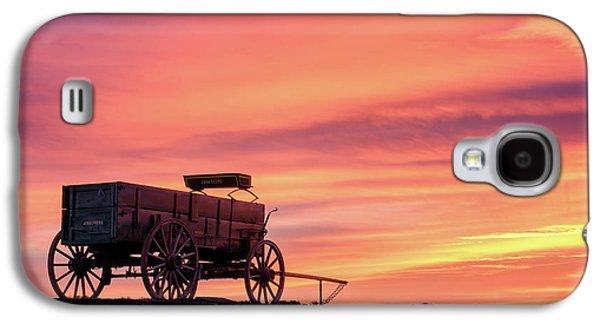 Wagon Afire Galaxy S4 Case by Michael Blanchette