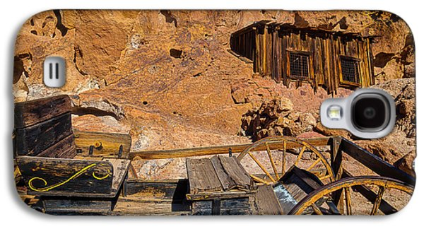 Wagon And Miners Hut Galaxy S4 Case by Garry Gay