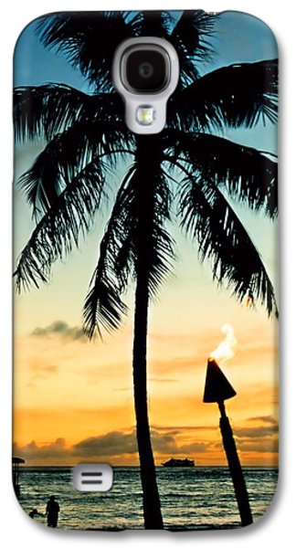 Waikiki Sunset Galaxy S4 Case by DJ Florek