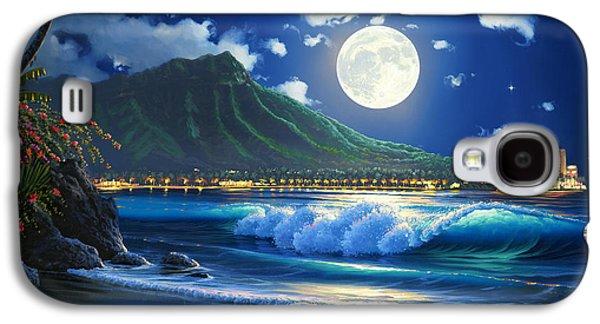 Waikiki Surf Aglow Galaxy S4 Case