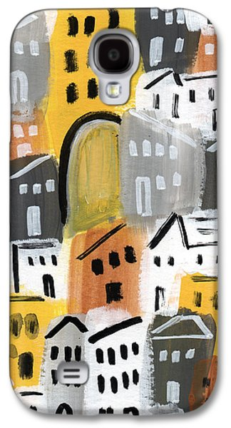 Town Galaxy S4 Case - Waiting For Autumn- Expressionist Art by Linda Woods