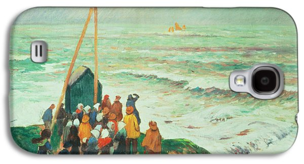 Waiting For The Return Of The Fishermen In Brittany Galaxy S4 Case by Henry Moret