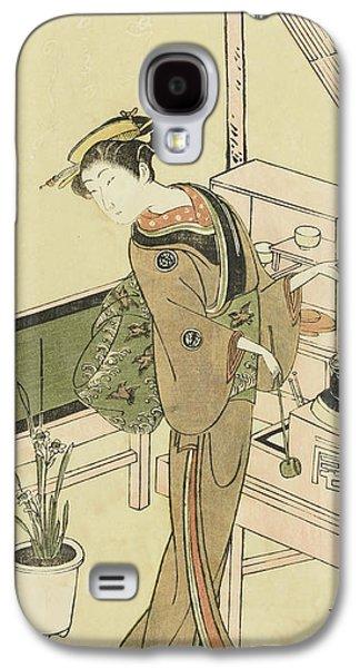 Waitress At The Owariya Teahouse Galaxy S4 Case by Ippitsusai Buncho