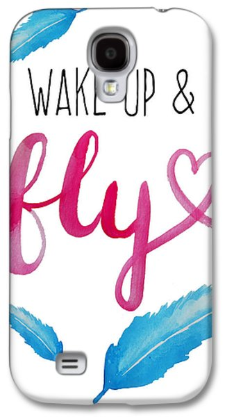 Wake Up And Fly Watercolor Galaxy S4 Case by Michelle Eshleman