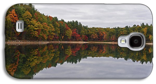 Walden Pond Fall Foliage Concord Ma Reflection Trees Galaxy S4 Case