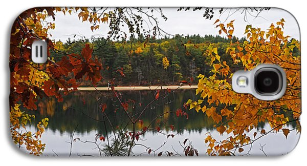 Walden Pond Fall Foliage Leaves Concord Ma Galaxy S4 Case