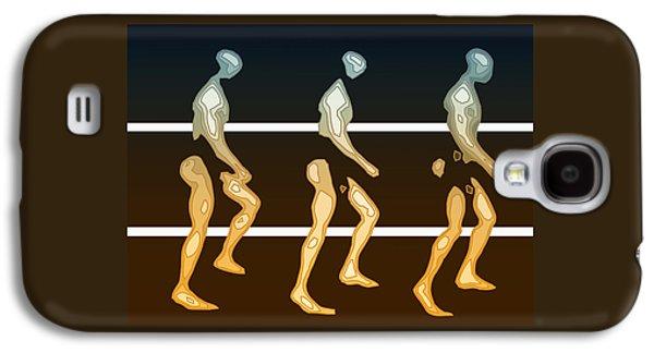 Walking In Line Galaxy S4 Case by Joaquin Abella