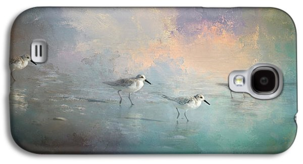 Sandpiper Galaxy S4 Case - Walking Into The Sunset by Marvin Spates