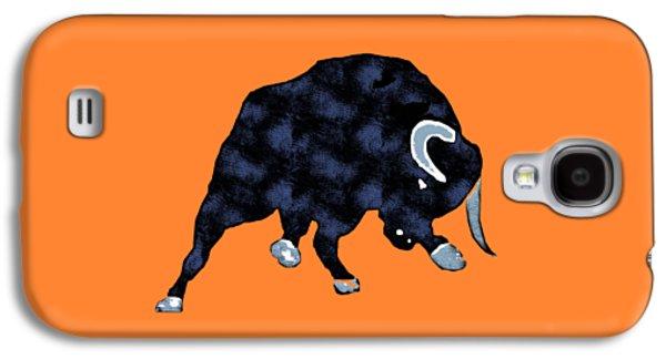 Wall Street Bull Market Series 1 T-shirt Galaxy S4 Case by Edward Fielding