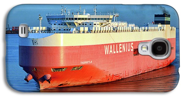 Galaxy S4 Case featuring the photograph Wallenius Wilhelmsen Thermopylae 9702443 On The Patapsco River by Bill Swartwout Fine Art Photography