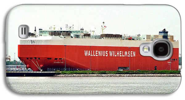 Galaxy S4 Case featuring the photograph Wallenius Wilhelmsen Tombarra 9319753 At Curtis Bay by Bill Swartwout Fine Art Photography