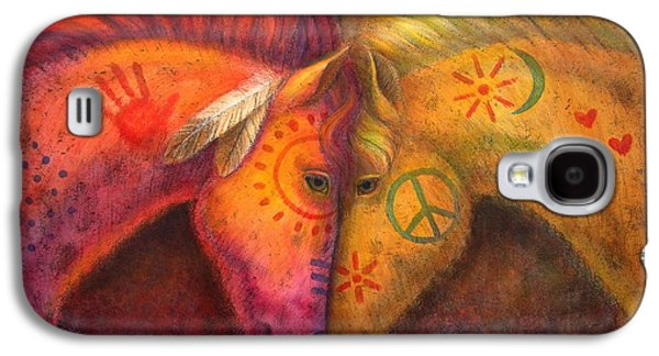War Horse And Peace Horse Galaxy S4 Case