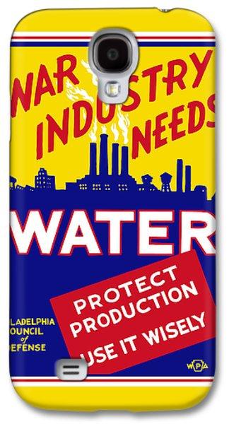 War Industry Needs Water - Wpa Galaxy S4 Case by War Is Hell Store