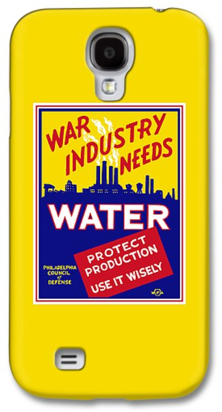 War Industry Needs Water - Wpa Galaxy S4 Case by War Is Hell Store