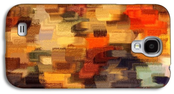 Warm Colors Abstract Galaxy S4 Case