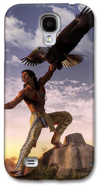 Warrior And Eagle Galaxy S4 Case by Daniel Eskridge