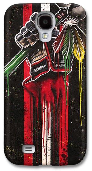 Warrior Glove On Black Galaxy S4 Case by Michael Figueroa