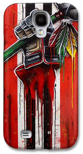 Warrior Glove On Red Galaxy S4 Case by Michael T Figueroa