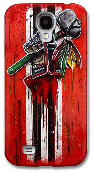 Warrior Glove On Red Galaxy S4 Case