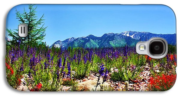 Snow-covered Landscape Digital Art Galaxy S4 Cases - Wasatch Mountains In Spring Galaxy S4 Case by Tracie Kaska