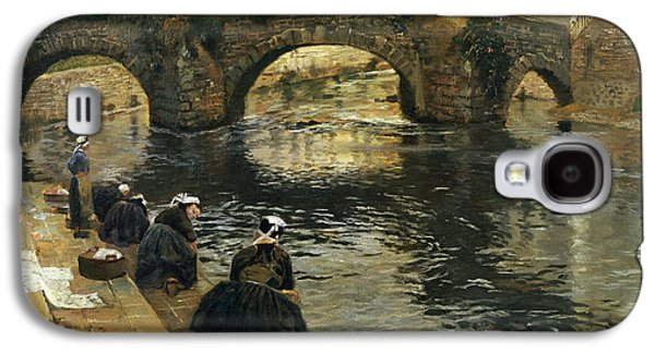 Washerwomen In The Morning At Quimperle  Galaxy S4 Case