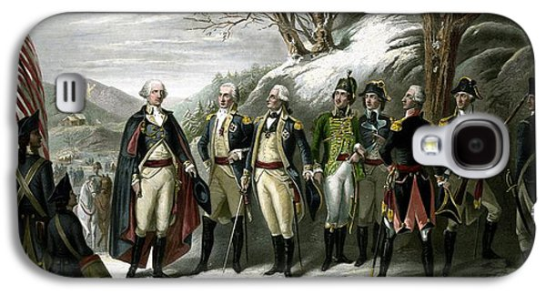 George Washington Galaxy S4 Case - Washington And His Generals  by War Is Hell Store