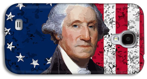 George Washington Galaxy S4 Case - Washington And The American Flag by War Is Hell Store
