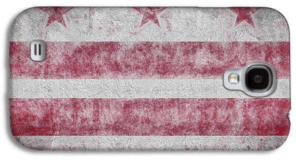 Galaxy S4 Case featuring the digital art Washington Dc City Flag by JC Findley