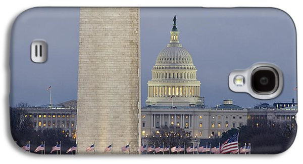 Washington Monument Galaxy S4 Case - Washington Monument And United States Capitol Buildings - Washington Dc by Brendan Reals