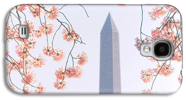 Washington Monument Spring Celebration  Galaxy S4 Case by Olivier Le Queinec