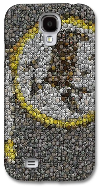 Washington Redskins Coins Mosaic Galaxy S4 Case by Paul Van Scott