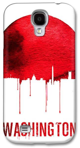 Washington Skyline Red Galaxy S4 Case by Naxart Studio