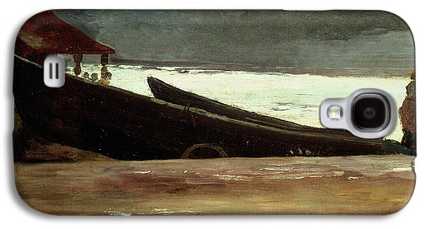 Thunder Paintings Galaxy S4 Cases - Watching a Storm on the English Coast Galaxy S4 Case by Winslow Homer