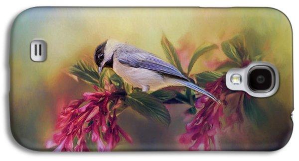 Watching Flowers Bloom Bird Art Galaxy S4 Case by Jai Johnson