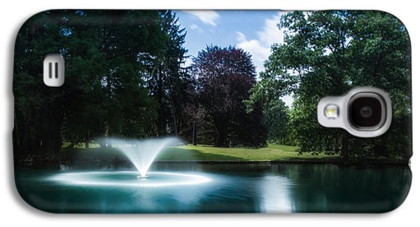 Water Fountain At Spring Grove Galaxy S4 Case by Tom Mc Nemar