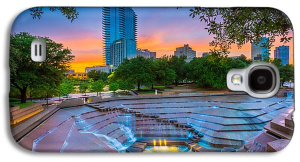 Water Gardens Sunset Galaxy S4 Case by Inge Johnsson