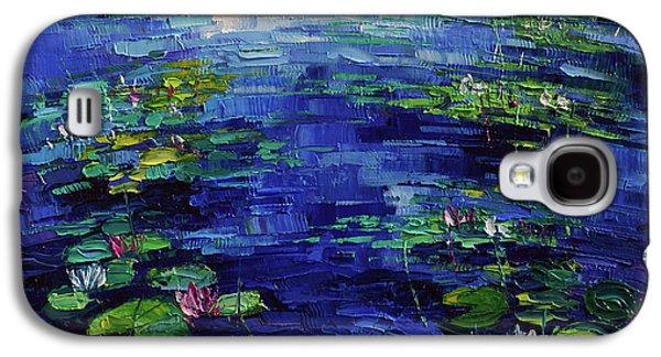 Water Lilies Magic Galaxy S4 Case by Mona Edulesco