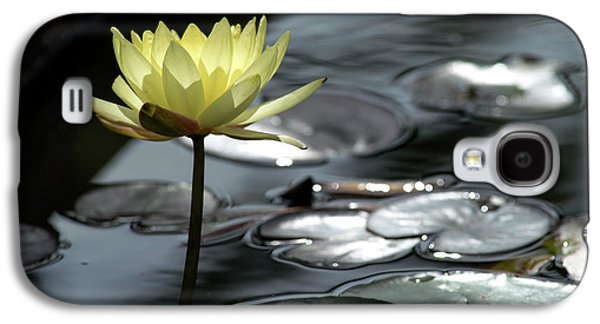Water Lily And Silver Leaves Galaxy S4 Case