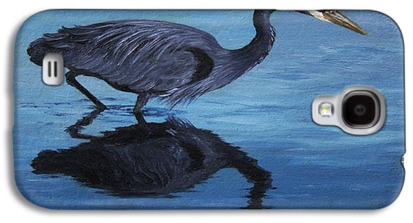 Water Stalker - Blue Heron Galaxy S4 Case by Crista Forest