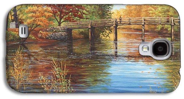 Concord Galaxy S4 Cases - Water Under the Bridge Old North Bridge MA Galaxy S4 Case by Elaine Farmer