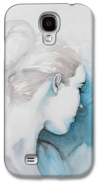 Watercolor Abstract Girl With Hair Bun Galaxy S4 Case by Atelier B Art Studio