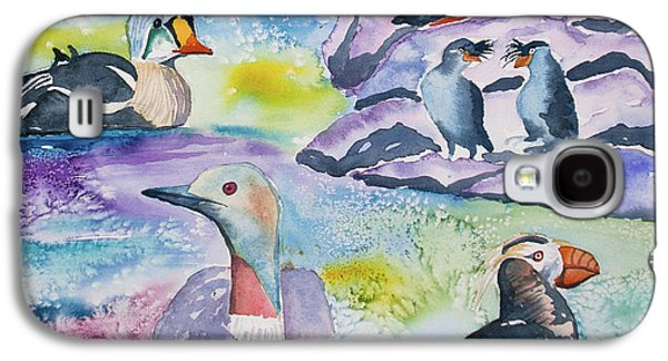 Watercolor - Alaska Seabird Gathering Galaxy S4 Case